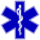 Star of life with rod of asclepius